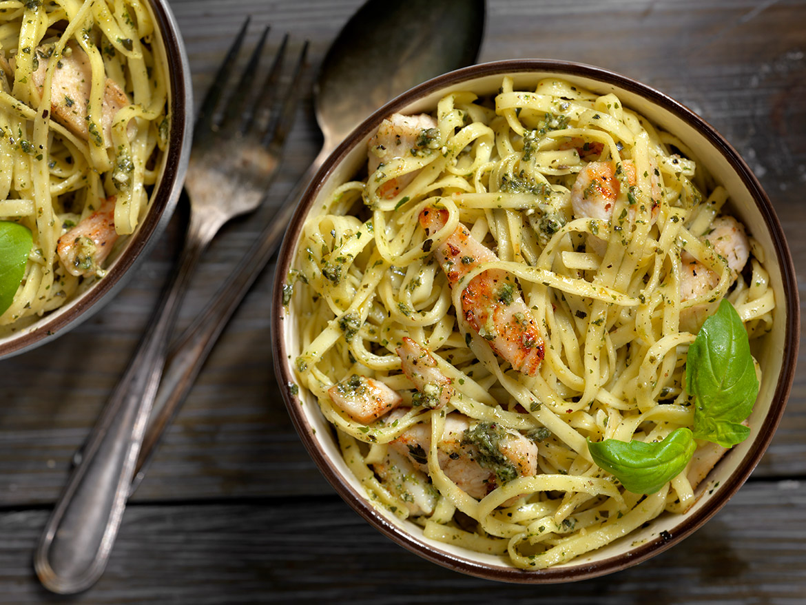 Linguine with Grilled Chicken Recipe