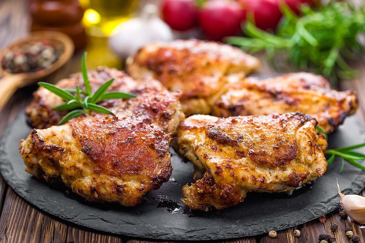 Roasted Chicken Thighs With Herb Recipe